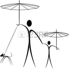 236x236 Umbrella Silhouette Silhouette Of Child With Umbrella 11
