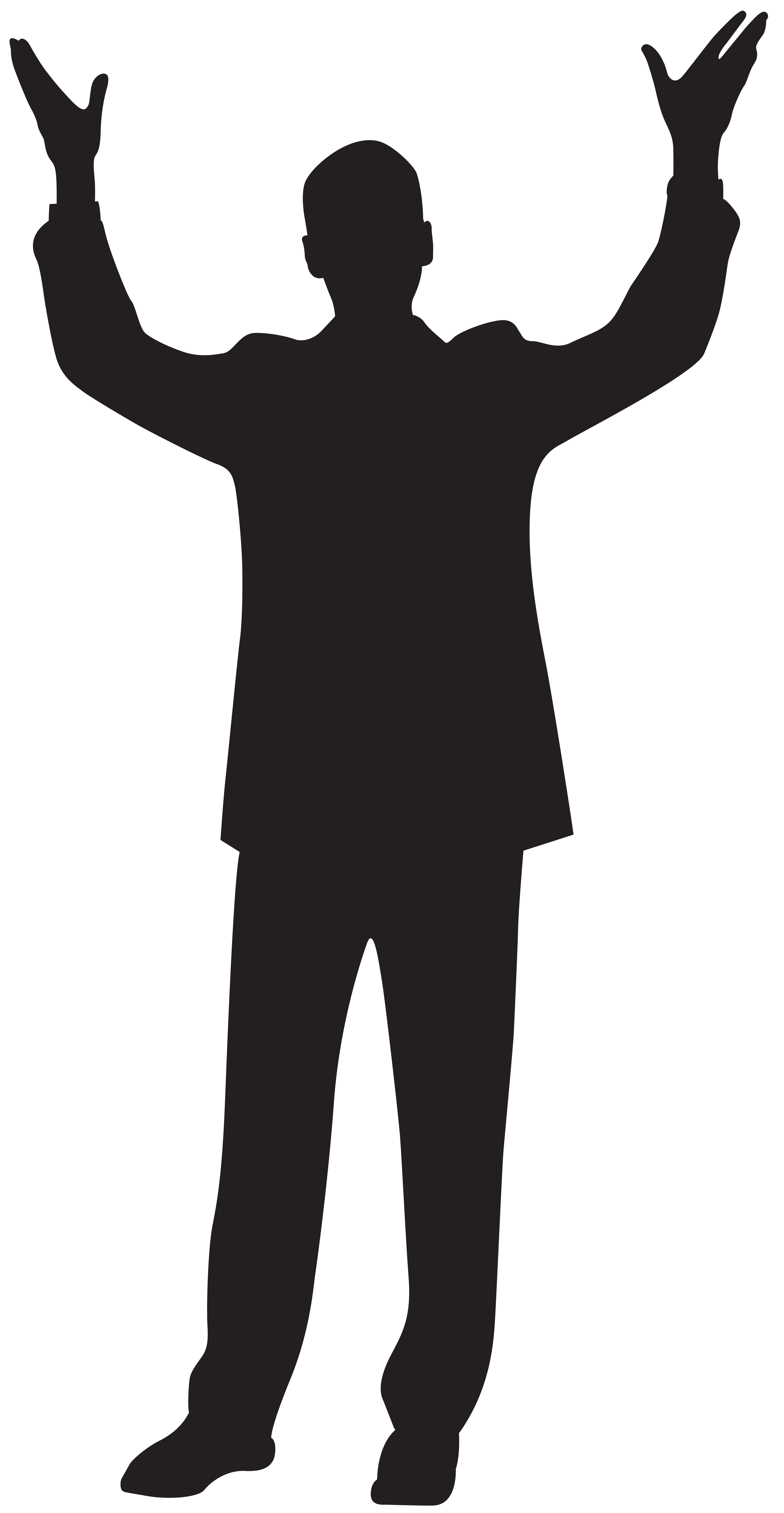 4147x8000 Man With Hands Up Silhouette Clip Art Imageu200b Gallery