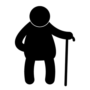 300x300 Old Man Silhouette Clip Art