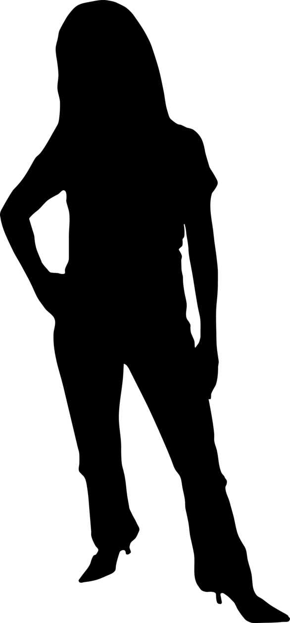 586x1258 Woman Silhouette Clip Art Clipart Panda