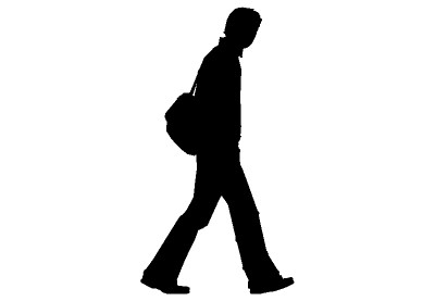 400x277 Clipart Of Someone Walking