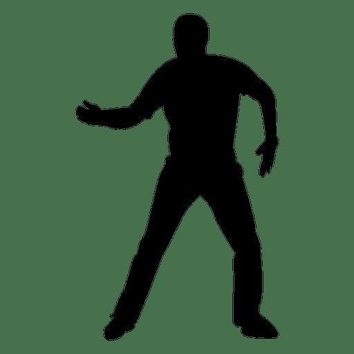 512x512 Man Dancing Silhouette 1