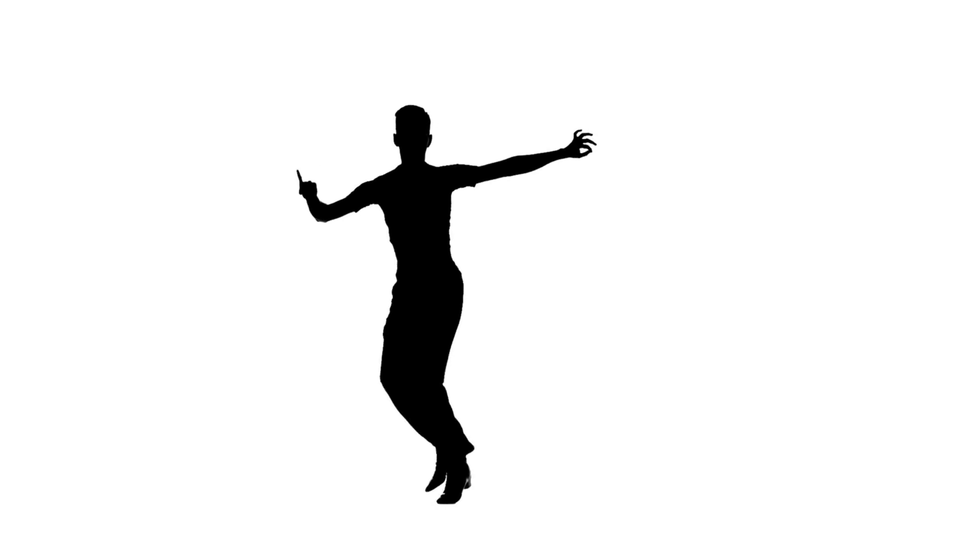 1920x1080 Man Solo Dancing Elements Of Ballroom Dancing. Silhouette, Slow