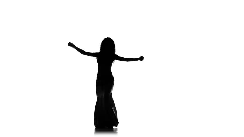 852x480 Silhouette A Dancing Man. Dances Georgia And Rest