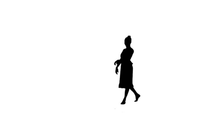 852x480 Silhouette Of A Man Dancing National Dance From Caucasus. Dances