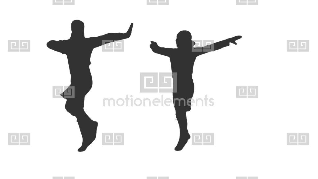 1024x576 Silhouette Of Two Men Dancing National Caucasus Dance, Alpha