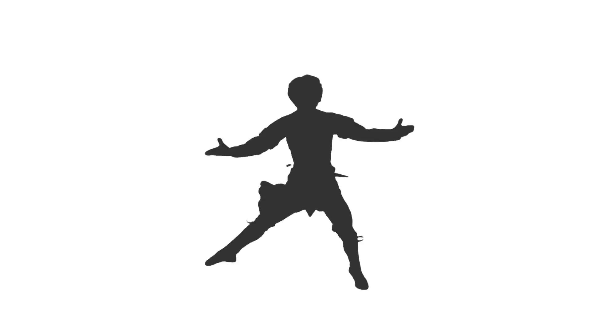1920x1080 Silhouette Of A Man Dancing. Dancing Silhouette. Dances Of Georgia