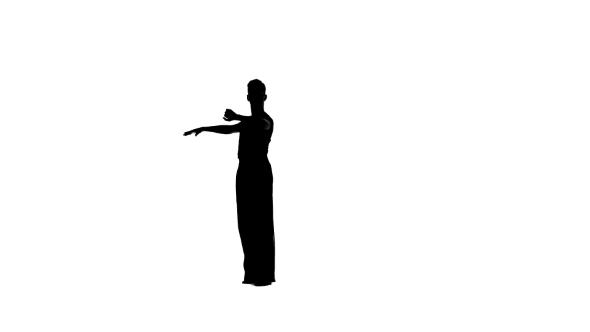 590x332 Solo Man Is Dancing Elements Of Ballroom Dancing. Silhouette