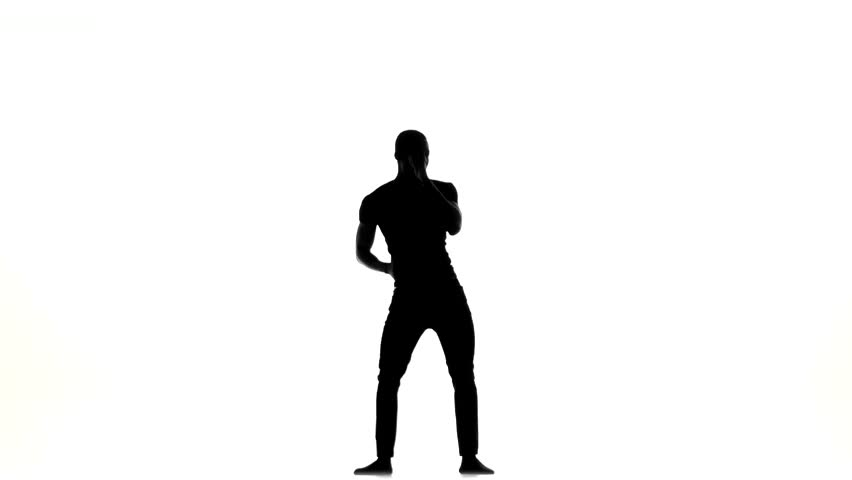 852x480 Happy Handsome Afro American Man Dancer Dancing Barefoot Latina