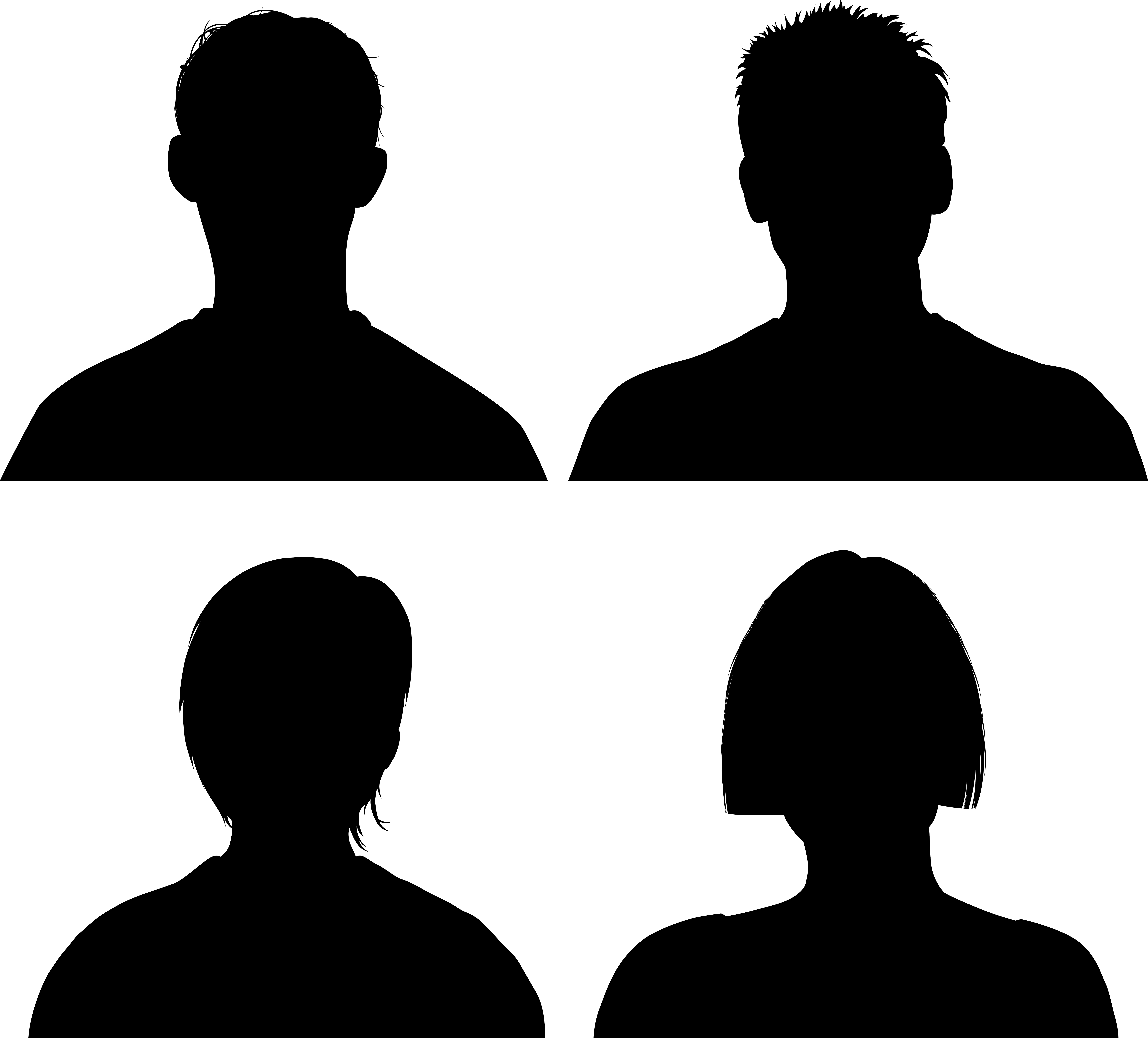 7000x6332 Pictures Person Silhouette Face,