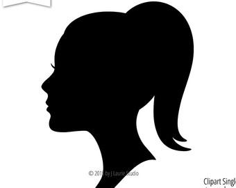 340x270 Silhouette Clipart Woman Face