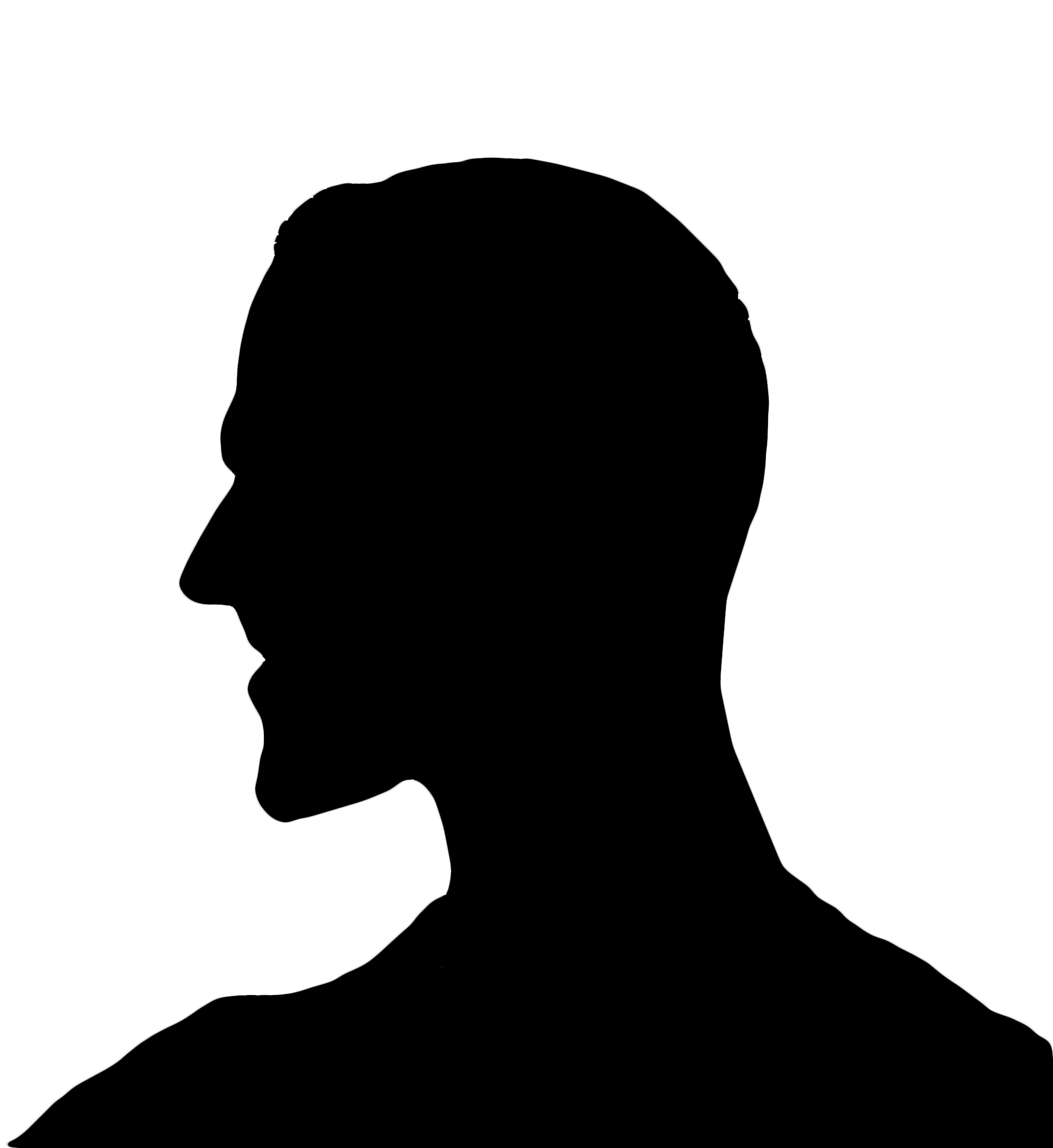 5555x6056 Dark Silhouette Head Man Profile Free Image