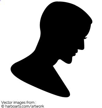335x355 Download Man Profile Silhouette