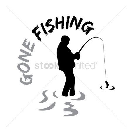 450x450 Free Man Fishing Stock Vectors Stockunlimited