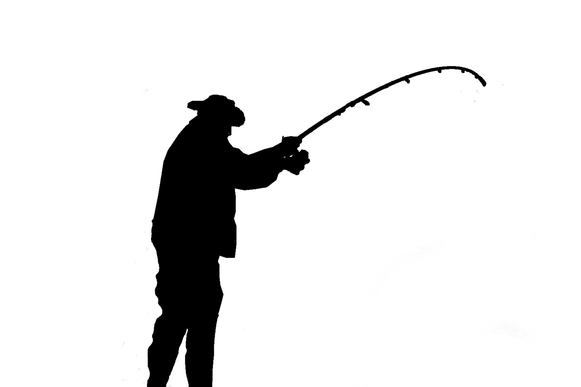 1920x1280 Angler Silhouette Free Stock Photo