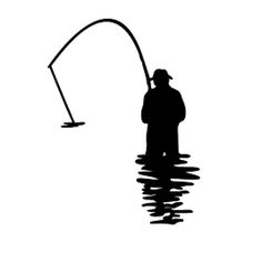 236x236 Man Fishing Silhouette Silhouette Of A Fisherman With Martin