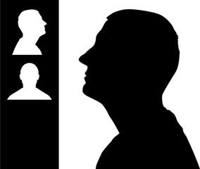 284x240 Young Man Head Silhouette