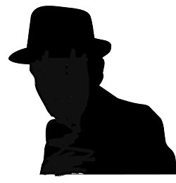Man In Fedora Silhouette