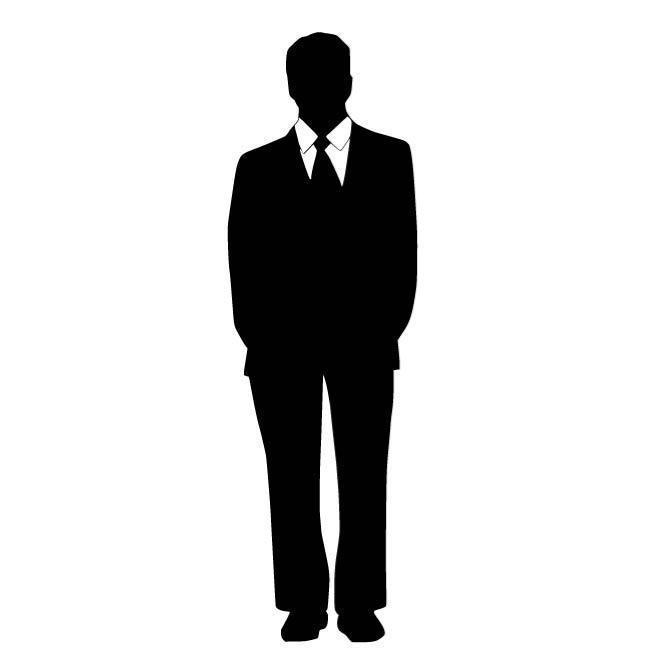 660x660 Man In Suit Silhouette Car Decal Sticker