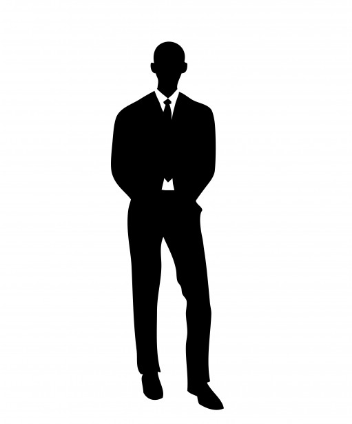 511x615 Man In Suit Silhouette Free Stock Photo