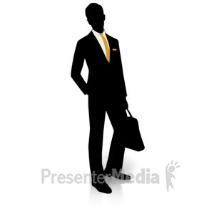 300x300 Silhouette Of A Man In Suit And Tie