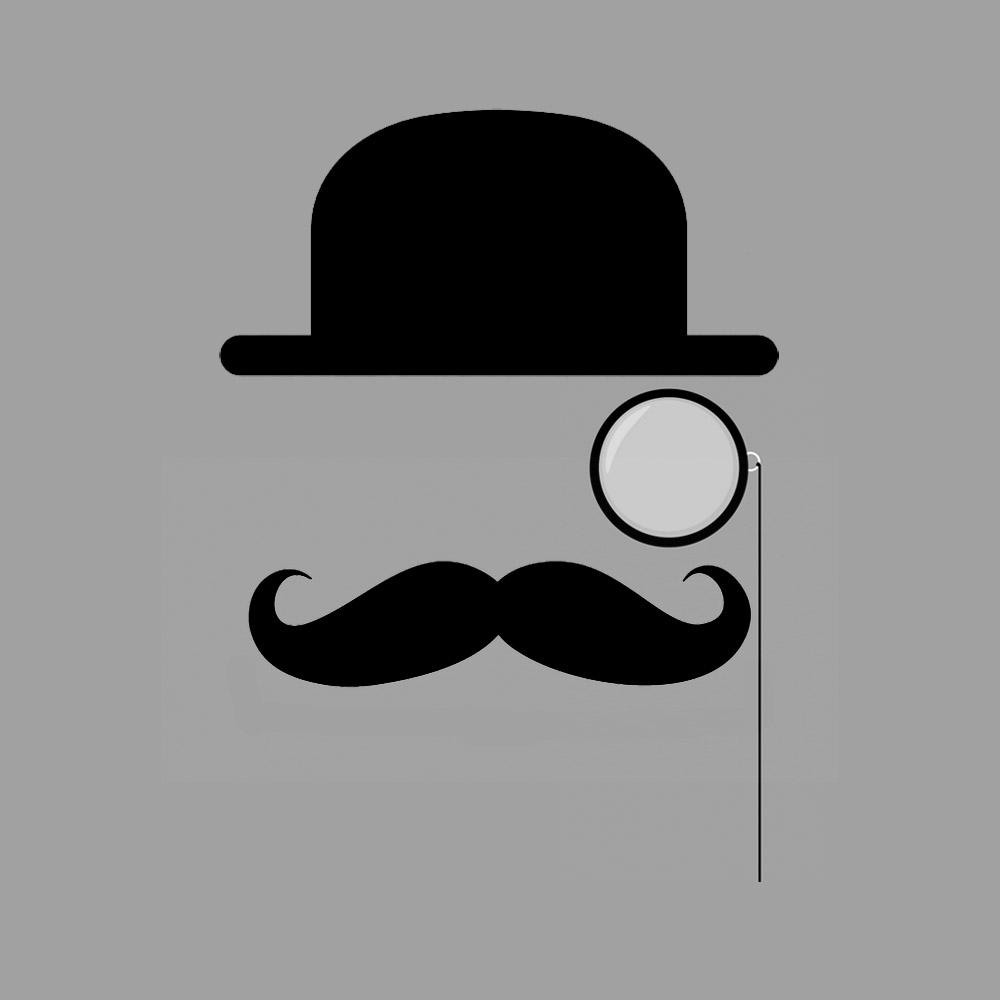 1000x1000 Top Hat Clipart Moustache Style 4000007