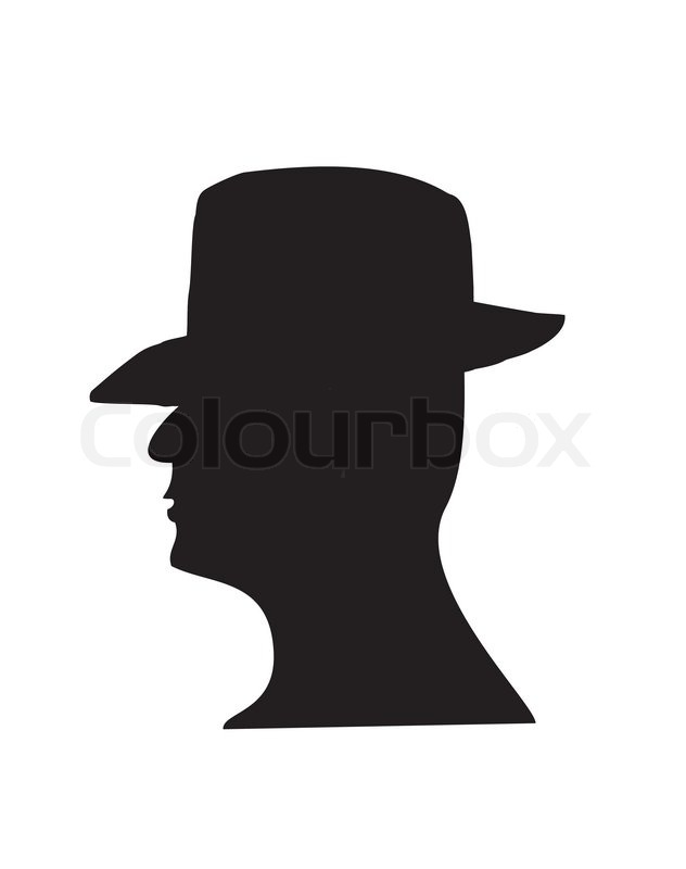 632x800 Top Hat Silhouette Clipart
