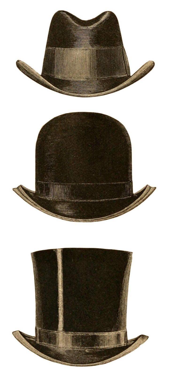 733x1600 Top Hat Clipart Mens Vintage