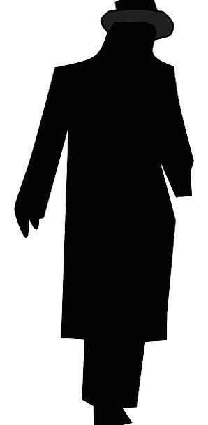 298x608 Man, Gentleman, Being, Hat, Cap, Person, Walking, Silhouette