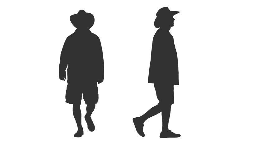 852x480 Side View Of A Man In A Jacket With Scarf And Hat Walking On Green