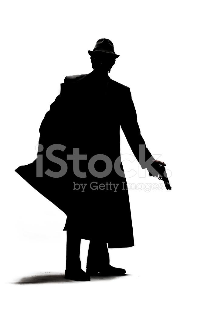 682x1024 Gangster Pulling Gun From Holster Stock Photos