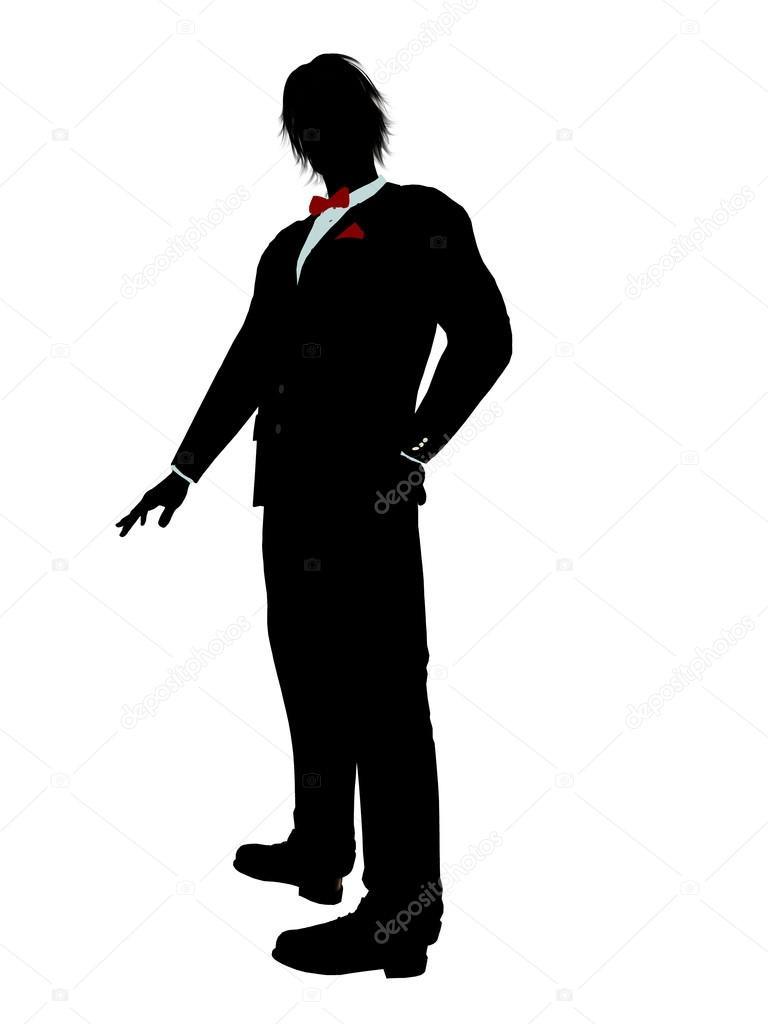 768x1024 Man In A Tuxedo Silhouette Stock Photo Kathygold 2691351 Beauteous