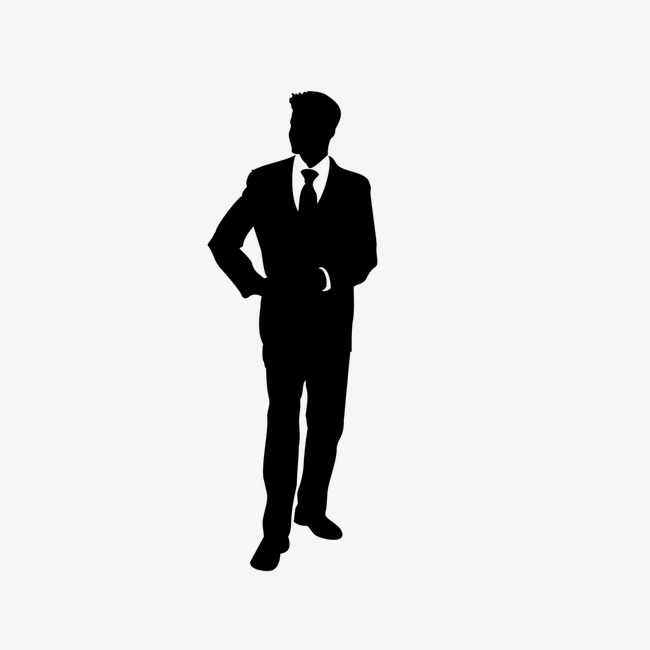 650x650 Business People Silhouette In Black And White, Business, Character