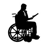 160x156 Silhouette Vector Of A Man A Businessman Disabled In A Wheelchair