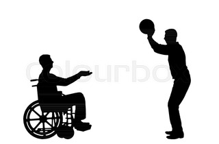 320x210 Vector Silhouette Man Disabled In A Wheelchair From Having Fun