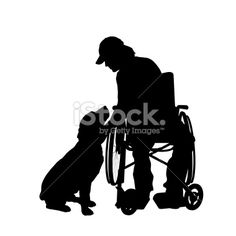 236x236 Vector Silhouettes Of People In A Wheelchair On A White Background