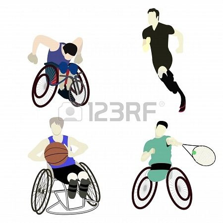 450x450 Disabled Man Sport Graphic Vector Athlete, Athletic, Chair
