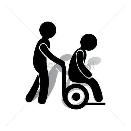 450x450 Free Wheelchair Stock Vectors Stockunlimited