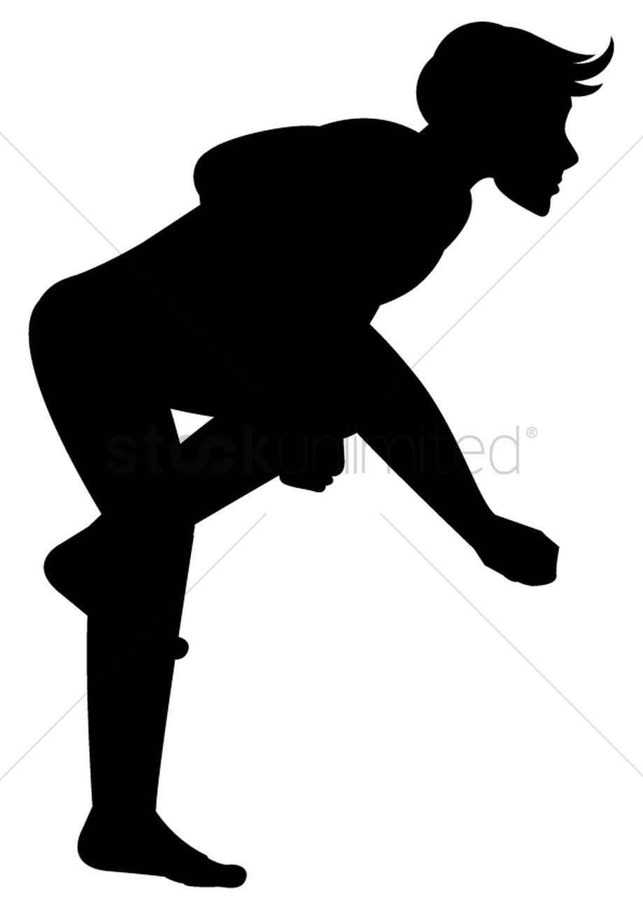 919x1300 Silhouette Of Man Jumping Vector Image