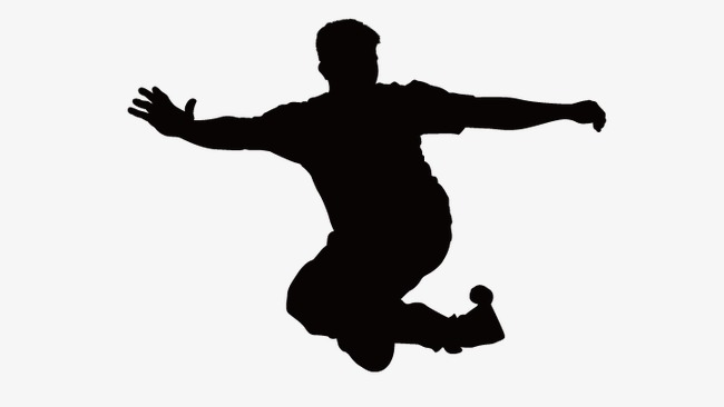 650x366 Jumping Silhouette Figures, Man Silhouette, Vector Silhouettes Png