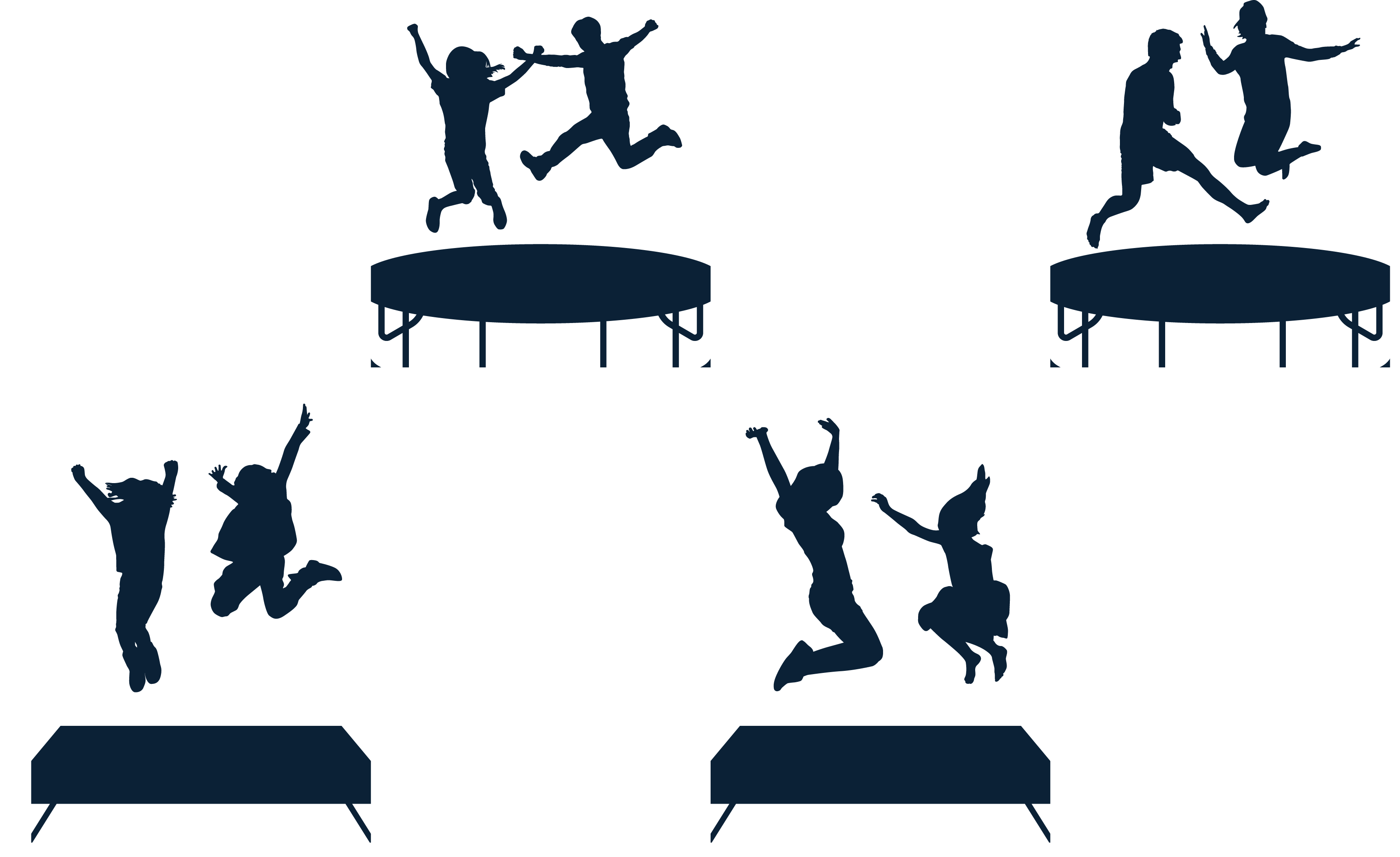 3434x2104 Jumping Silhouette Trampoline
