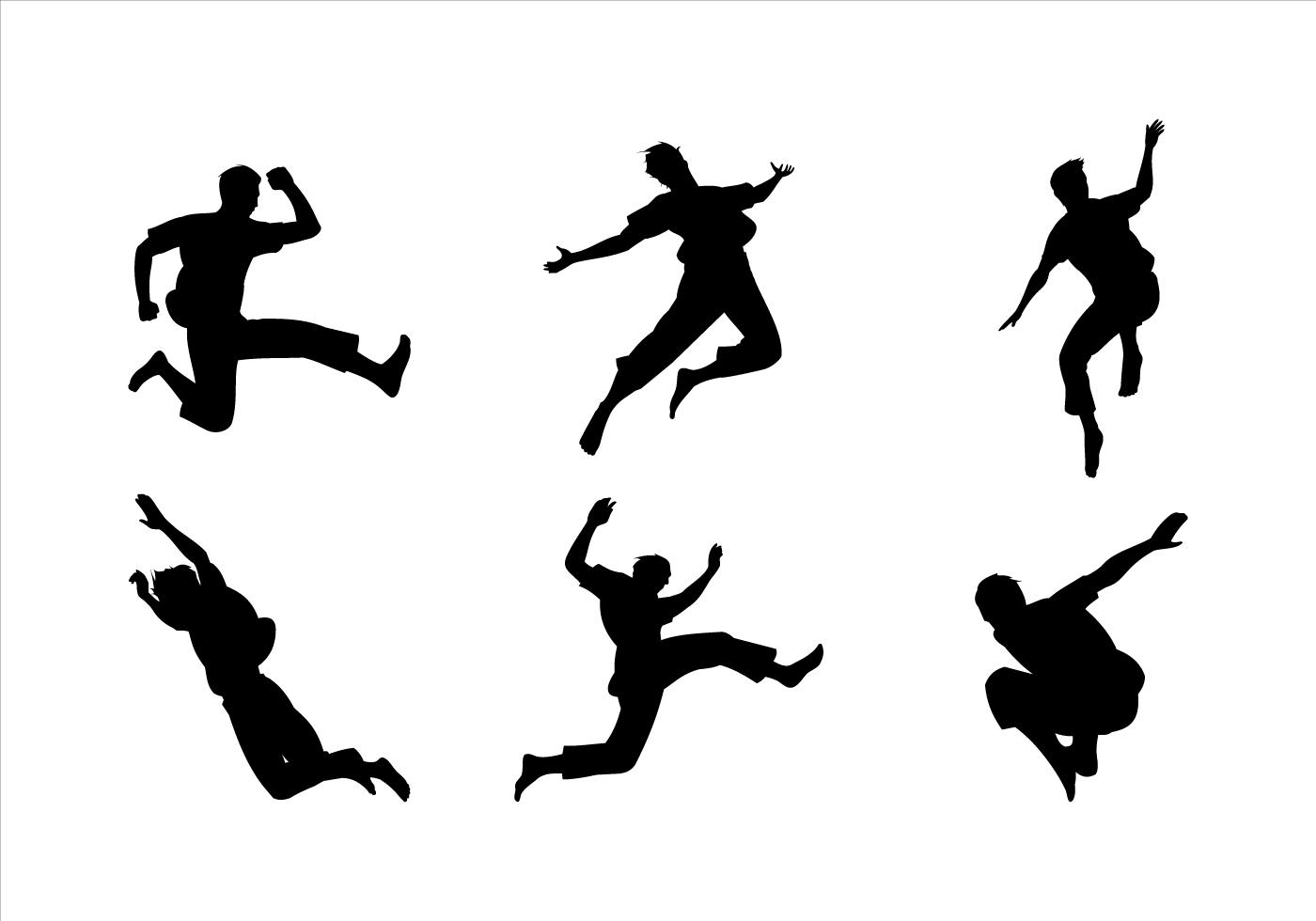 1400x980 Man Jumping Siluetas Vector
