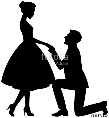 462x500 Man On His Knees Makes A Proposal To Marry The Girl Stock Image