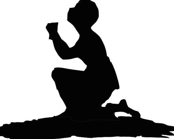 596x477 Praying, Requesting, Entreaty, Kneeling, Genuflection, Prayer, Man