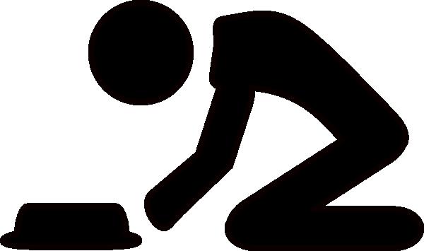 600x355 Kneeling Man Clip Art