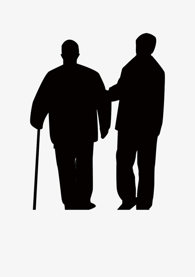 650x919 Elderly Father Leaning Silhouette Figures, Leaning, Age, Father