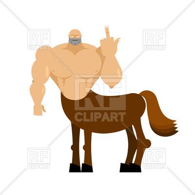 400x400 Centaur Fairy Tale Creature. Man Horse Shows Fuck. Royalty Free