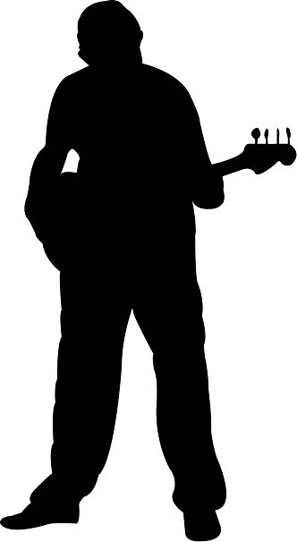 Man Playing Guitar Silhouette