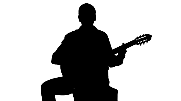 590x332 Silhouette Of A Man Playing The Guitar By Biggunsband Videohive