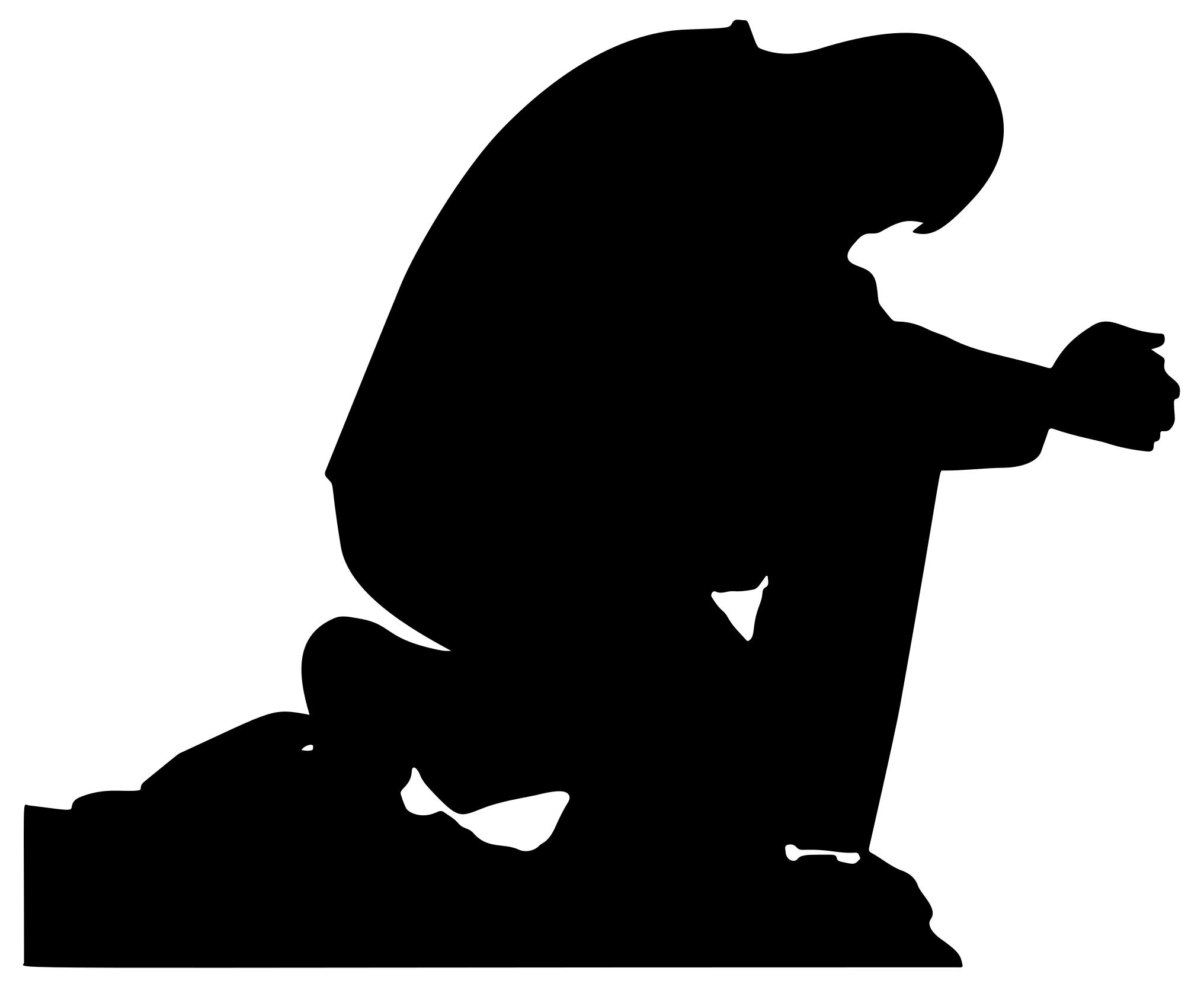 2032x1666 Praying Man Silhouette Clipart